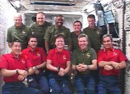 STS-122 and Expedition 16 crews