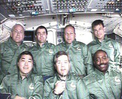 STS-122 crew members