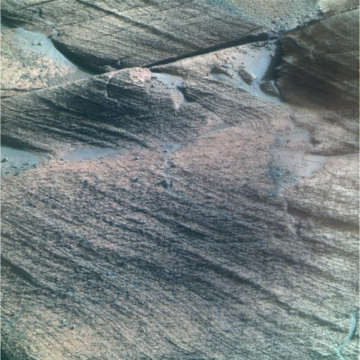 bedrock within a stratigraphic layer informally named 'Lyell'