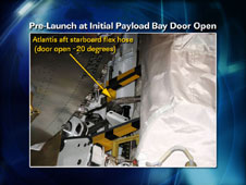 Pre-Launch at Initial Payload Bay Door Open