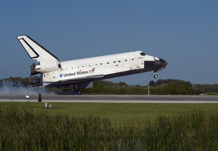 Space shuttle Atlantis touches down on Kennedy