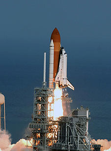 Space shuttle Atlantis launches