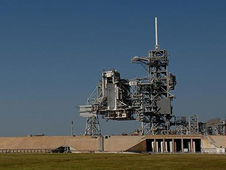 Launch pad at Kennedy Space Center.