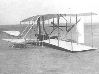 wright brothers' first powered flight
