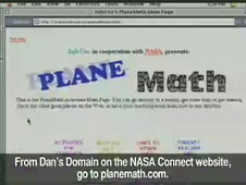 A screen shot of the Plane Math Web site