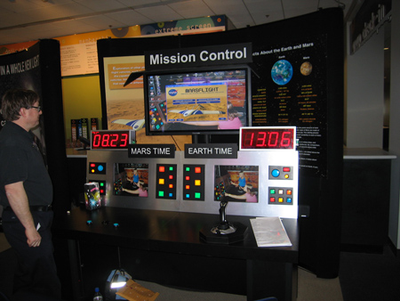 NASA Glenn Mars Airplane Interactive Exhibit.