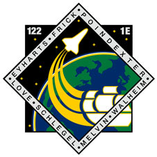 The STS-122 logo.