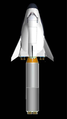 SpaceDev Dream Chaser with Suborbital launch vehicle