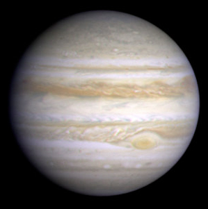 image of Jupiter taken by NASA's Cassini spacecraft