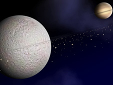 Artist Concept of Rhea Rings