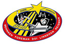 STS-123 mission patch designed by Pestana.
