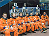 STS-123 crew in training suits