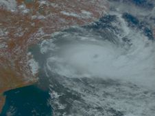 Satellite image of Tropical Cyclone Jokwe