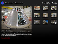Orion Pad Abort flight test article mock-up image gallery