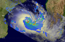 Image of Tropical Cyclone Jokwe compiled with satellite data