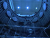 The inside of the NASA Goddard Thermal Vacuum Chamber