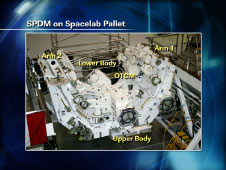 SPDM on Spacelab Pallet