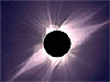 The solar corona seen during a total solar eclipse