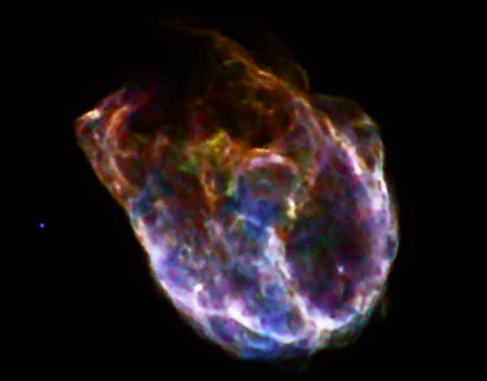 Massive star explosion in the Large Magellanic Cloud
