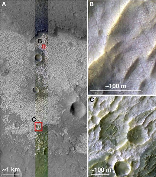 observation of mars indicating the presence of chloride salt deposits