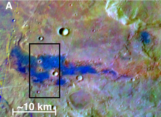 image of southern highlands of mars and chloride salt deposit