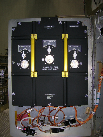 Photograph of Hubble batteries