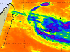 Satellite image of Tropical Cyclone Lola