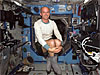 Astronaut Jeffrey N. Williams floats in the Destiny laboratory