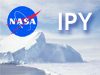 Image of iceberg superimposed with NASA logo