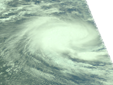 Satellite image of Cyclone Pancho