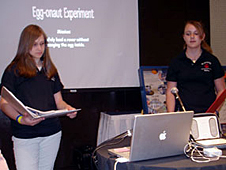 Two students giving a presentation