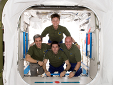 ISS016-E-033702 -- The Expedition 16 crew members