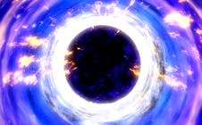 Top-down illustration of a black hole