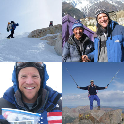 Scenes from Scott Parazynski's expedition to the summit of Mount Everest