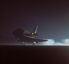 Endeavour lands concluding the STS-123 mission