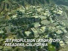 An aerial view of the Jet Propulsion Laboratory
