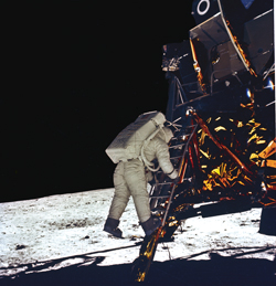 Magnificent desolation The second man on the moon, Buzz Aldrin, said these memorable words after taking his first steps at Tranquility Base.