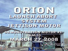 Orion Launch Abort System jettison motor demonstration