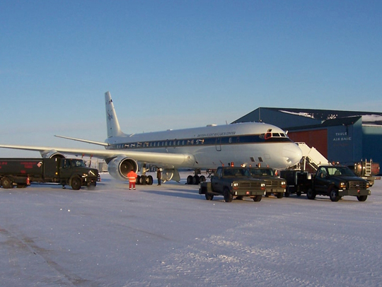 NASA's DC8 in Greenland