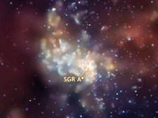 Xray image of Sagittarius A black hole