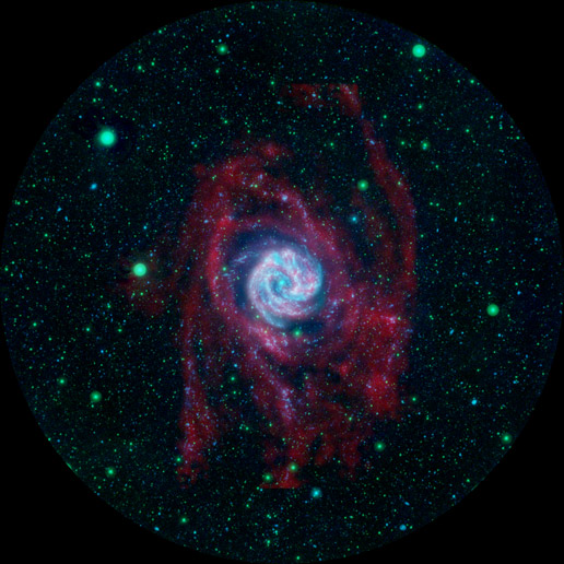 composite image of Southern Pinwheel galaxy, or M83