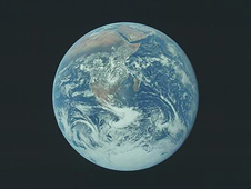 Photo of Earth taken by the Apollo 17 crew