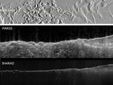 Images created from two radar sounder instruments