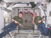 Expedition 16 Commander Peggy Whitson and Flight Engineer Garrett Reisman