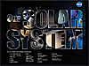 The words Our Solar System superimposed over objects in our solar system