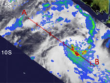 TRMM image of Tropical Storm Rosie