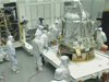 Technicians work on LRO.