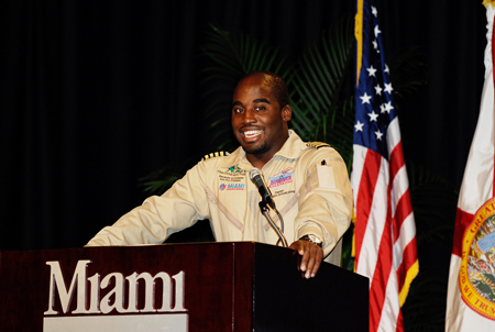 Barrington Irving talks about his experiences as the first African-American and youngest person to fly solo around the world.