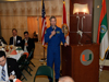 At the luncheon held during NASA's Future Forum in Miami, astronaut Steve Frick gives the keynote address.