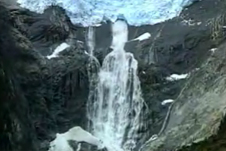Water flowing as a result of glacier melting